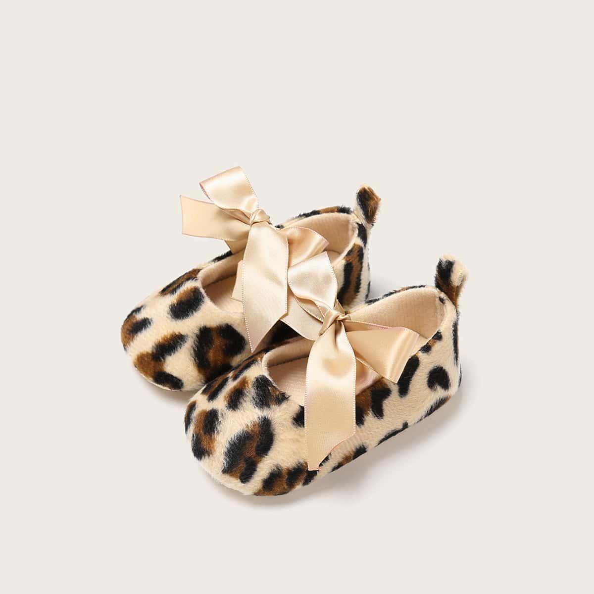 Veel kleurig Comfortabel Luipaard Baby platte schoentjes