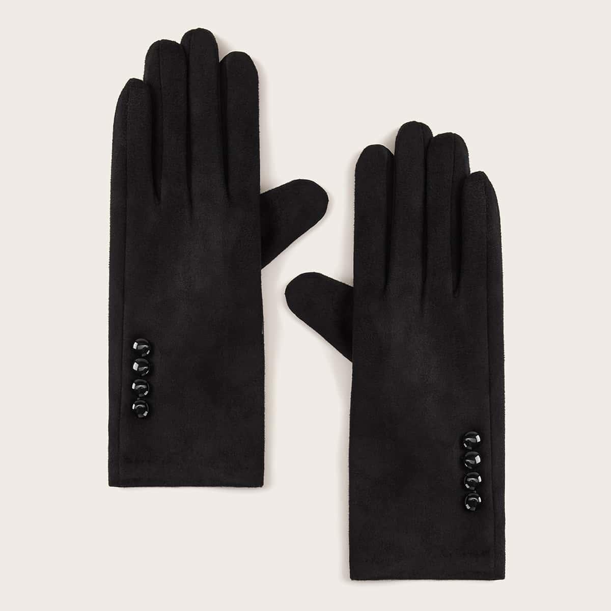 Перчатки с бусами 1 пара от SHEIN