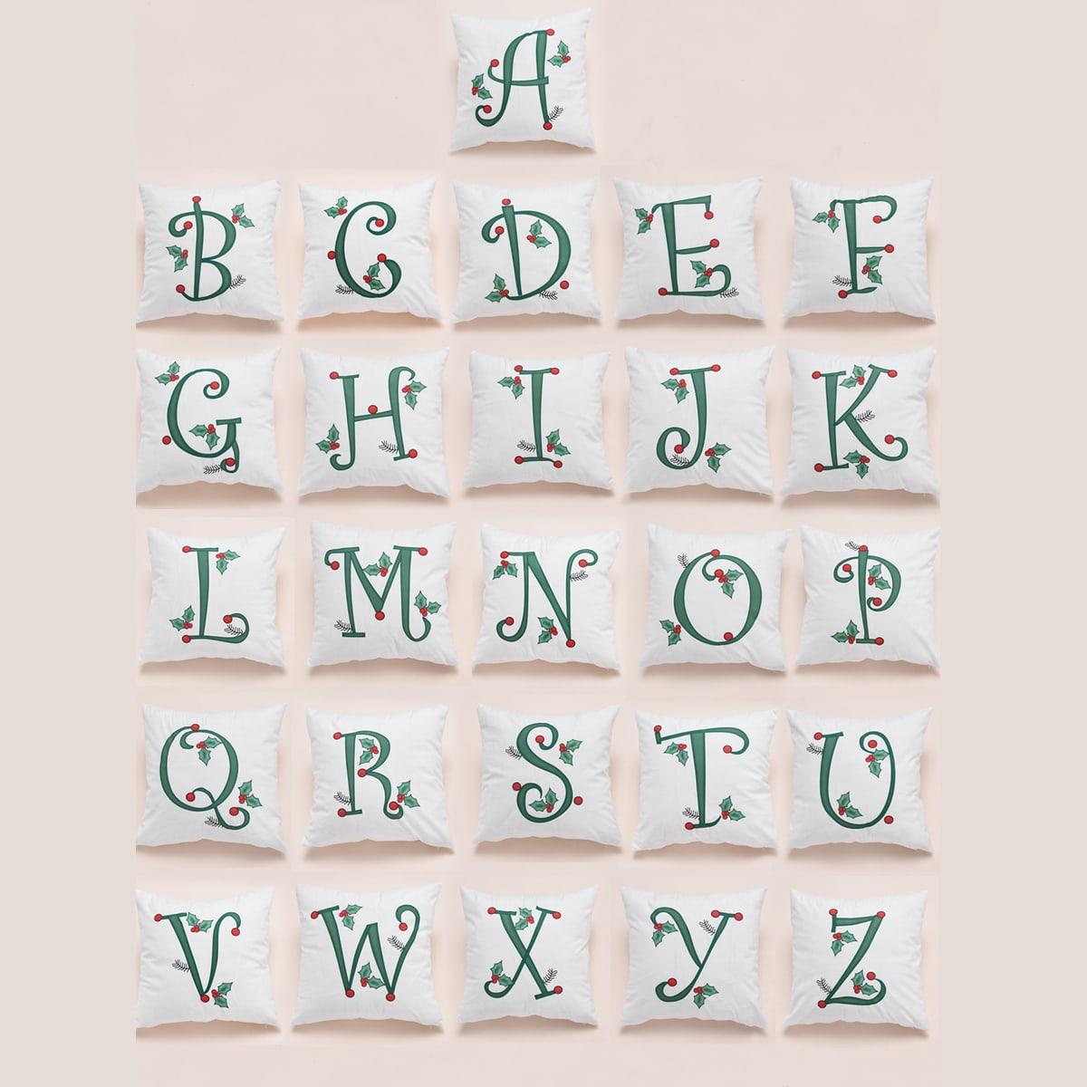 1 st kussenhoes met letterprint