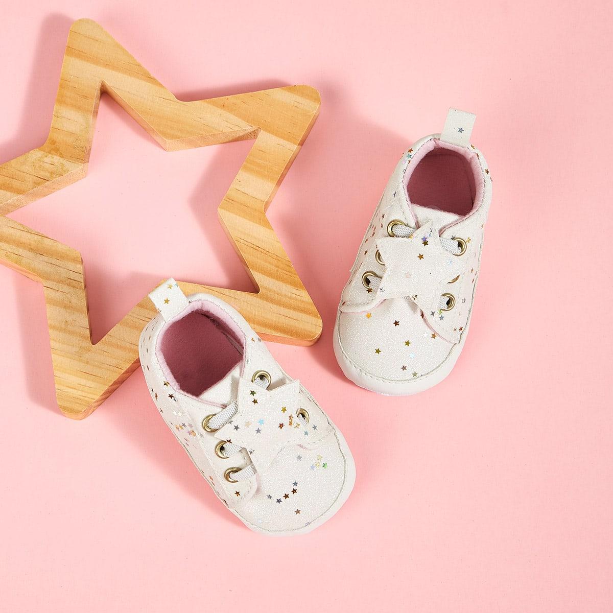 Wit Comfortabel Baby sneakertjes