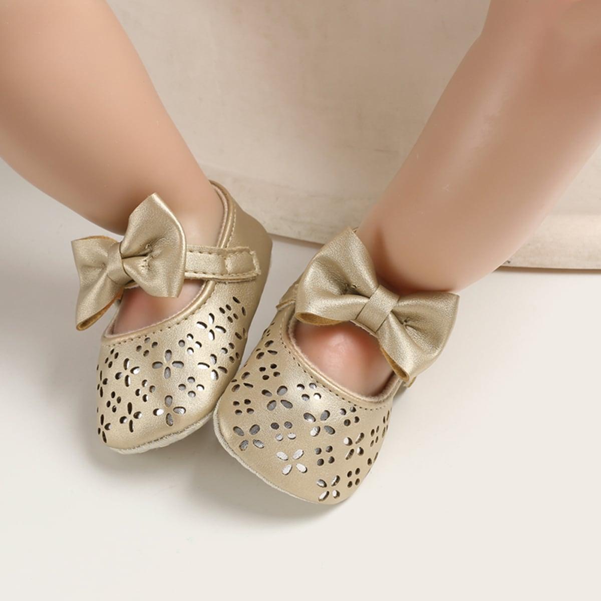 Goud Comfortabel Baby platte schoentjes