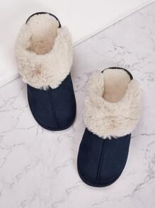 Slipper | Faux | Fur | Men