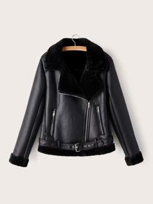 Leather | Jacket | Belt | Faux | Fur