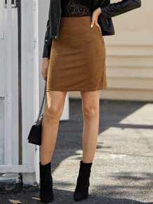 Suede | Skirt | Back