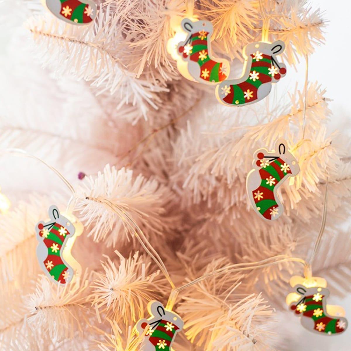 10st Christmas Stocking Bulb String Light