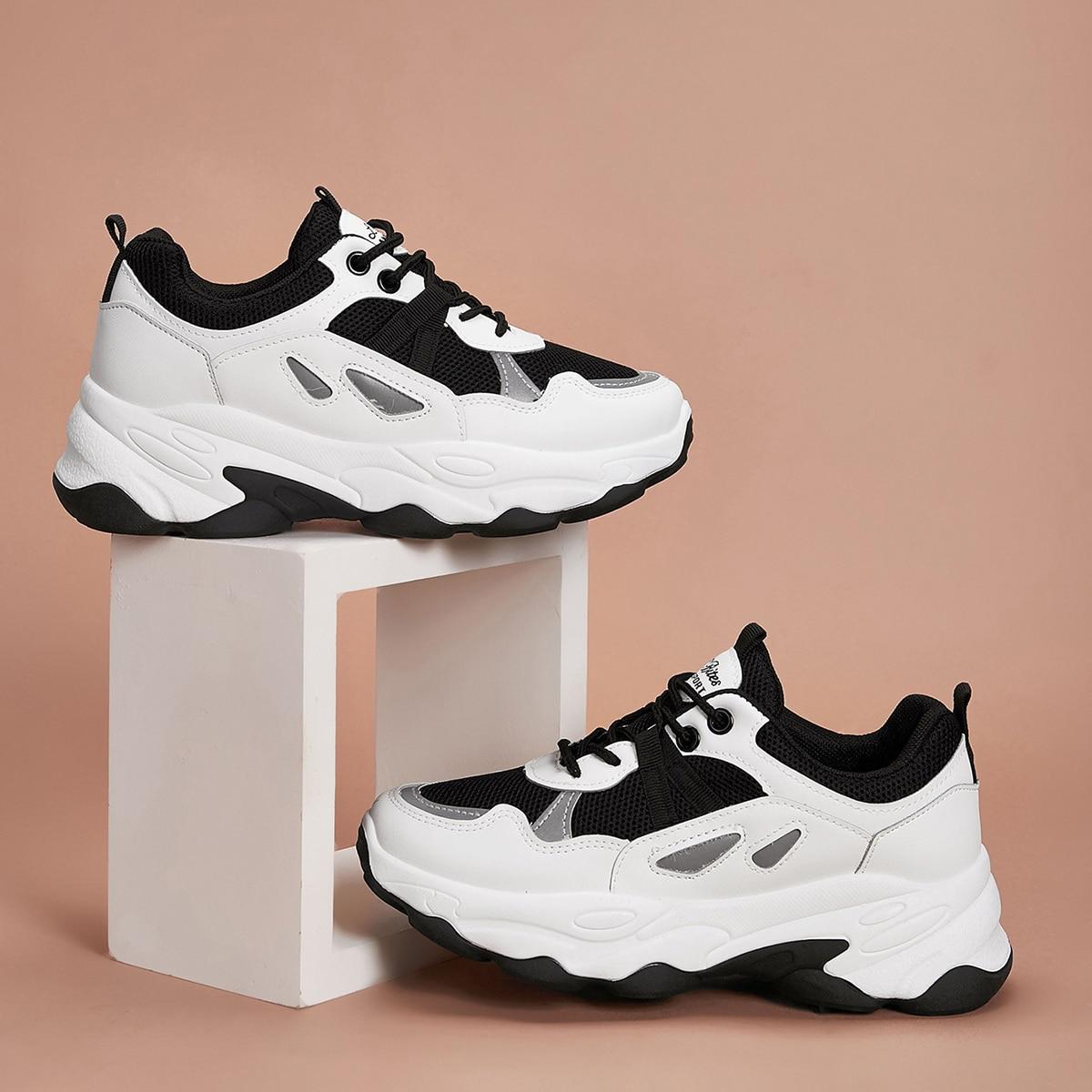 Кроссовки на платформе и шнурках от SHEIN