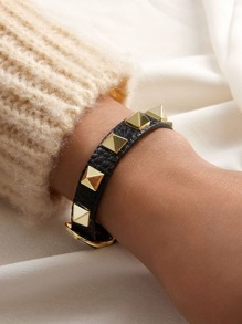 Bracelet | Studded | Leather | Buckle | Strap | Stud | Faux