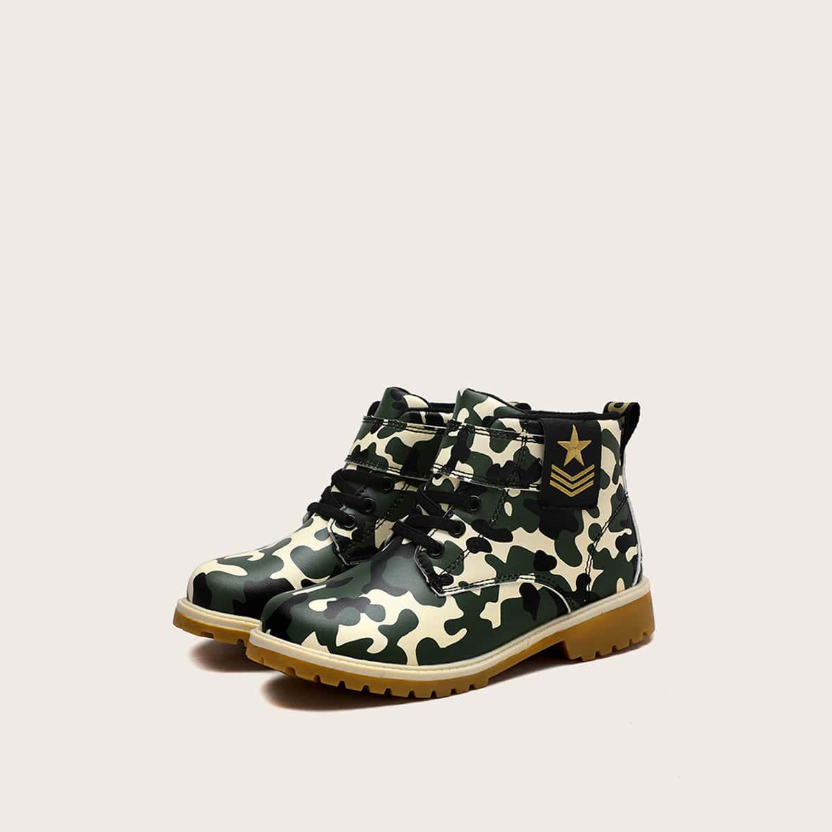Veel kleurig Comfortabel Camouflage Kinder laarzen