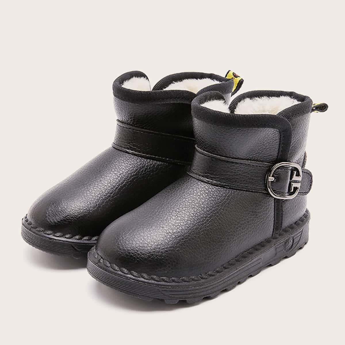 Zwart Comfortabel Vlak Kinder laarzen