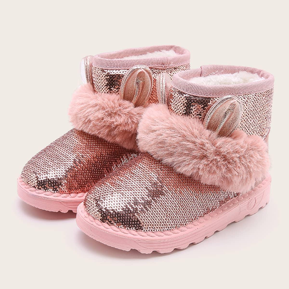 Roze  Comfortabel Vlak Kinder laarzen
