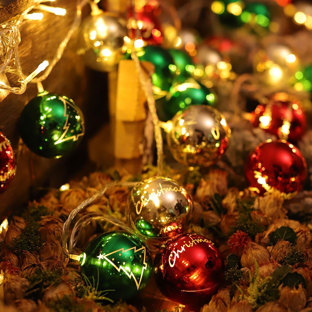10 stks Ball Bulb Kerst String Light