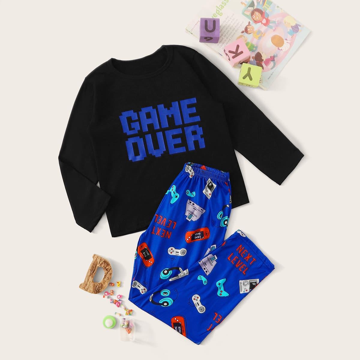 Пижама с оригинальным принтом для мальчиков от SHEIN