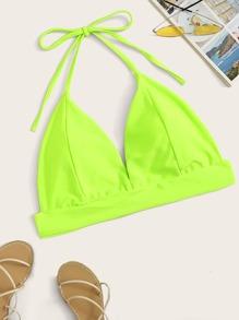 Triangle | Halter | Bikini | Green | Neon | Top