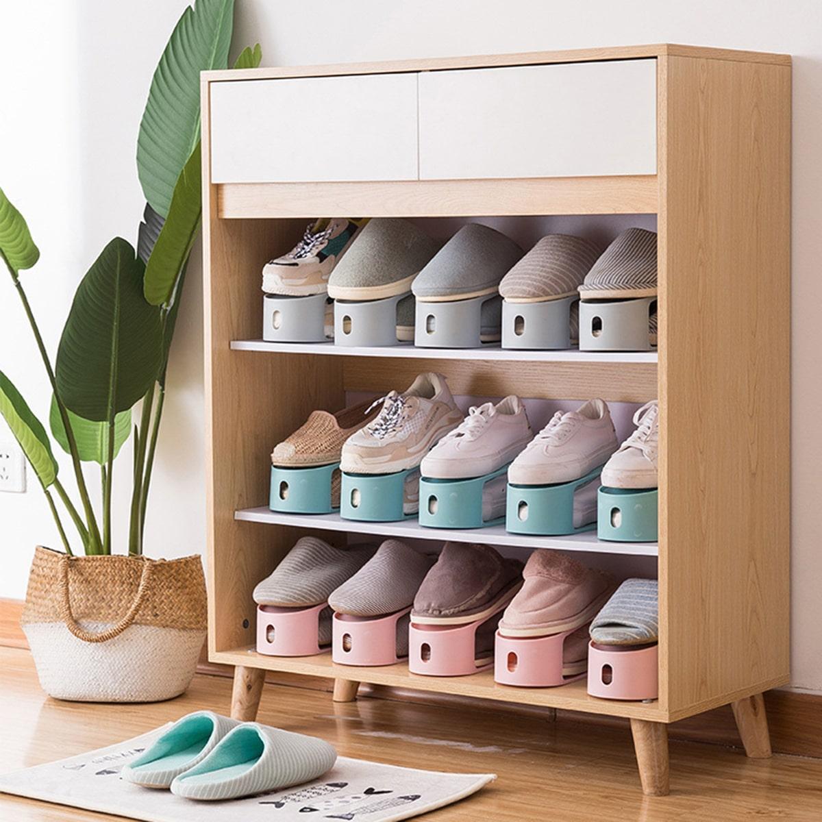 1pc dubbellaags schoenenrek voor schoenen