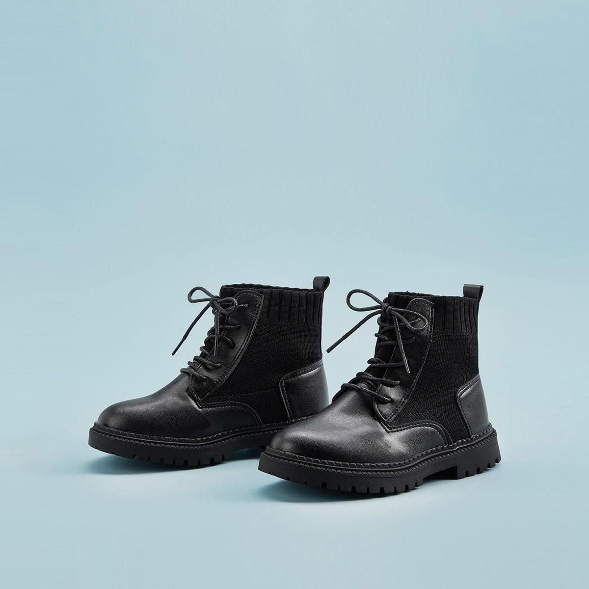 Zwart Comfortabel Kinder laarzen