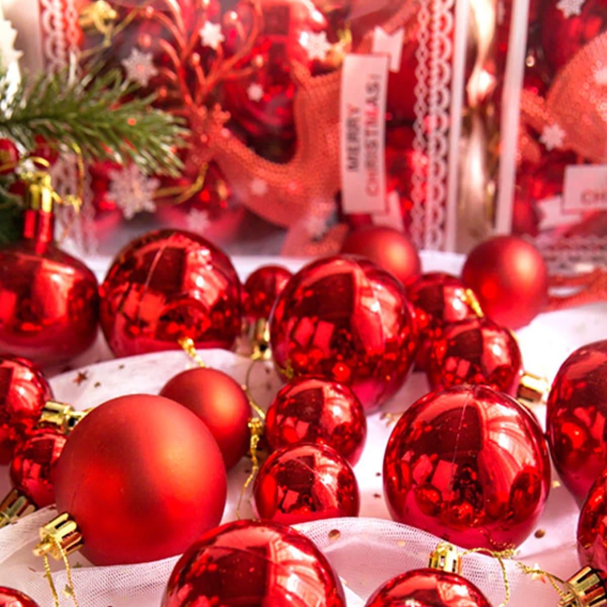 SHEIN / Tannenbaul Ball hängendes Ornament 30 Stücke