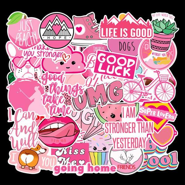 40pcs Slogan & Cartoon Graphic Sticker