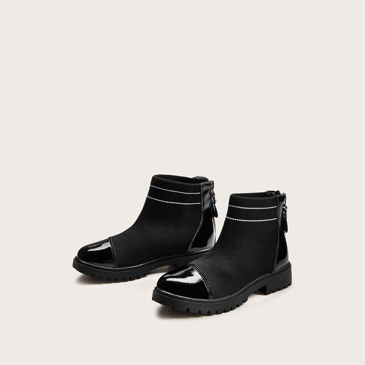 Zwart Comfortabel Gestreept Kinder laarzen
