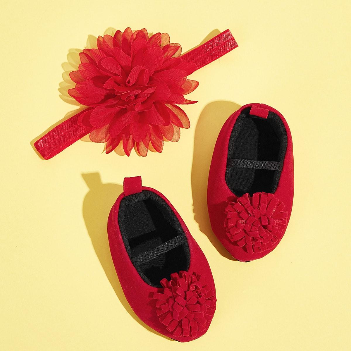 Rood Comfortabel Vlak Baby platte schoentjes
