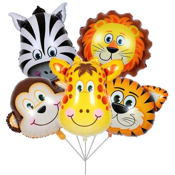 5pcs Animal Shaped Balloon, Multicolor