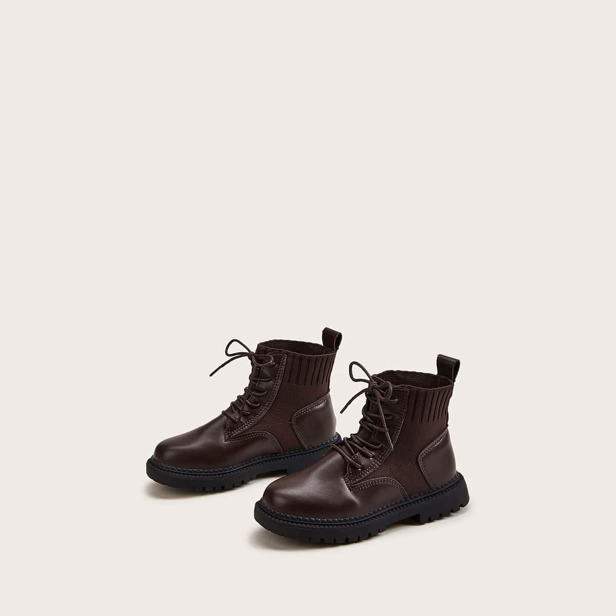 Bruin Comfortabel Vlak Kinder laarzen