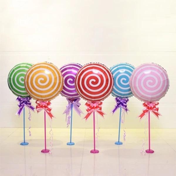 5pcs Lollipop Shaped Aluminum Foil Balloon, Multicolor