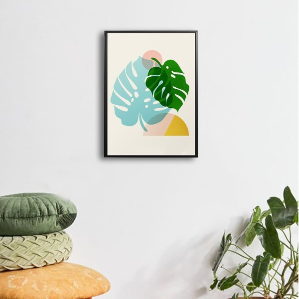 Abstract Leaf Wall Art Print Without Frame