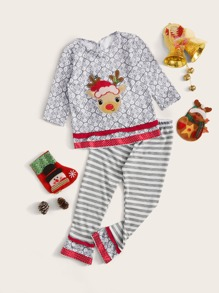 Christmas | Toddler | Year | Girl | Pant | Tee | New