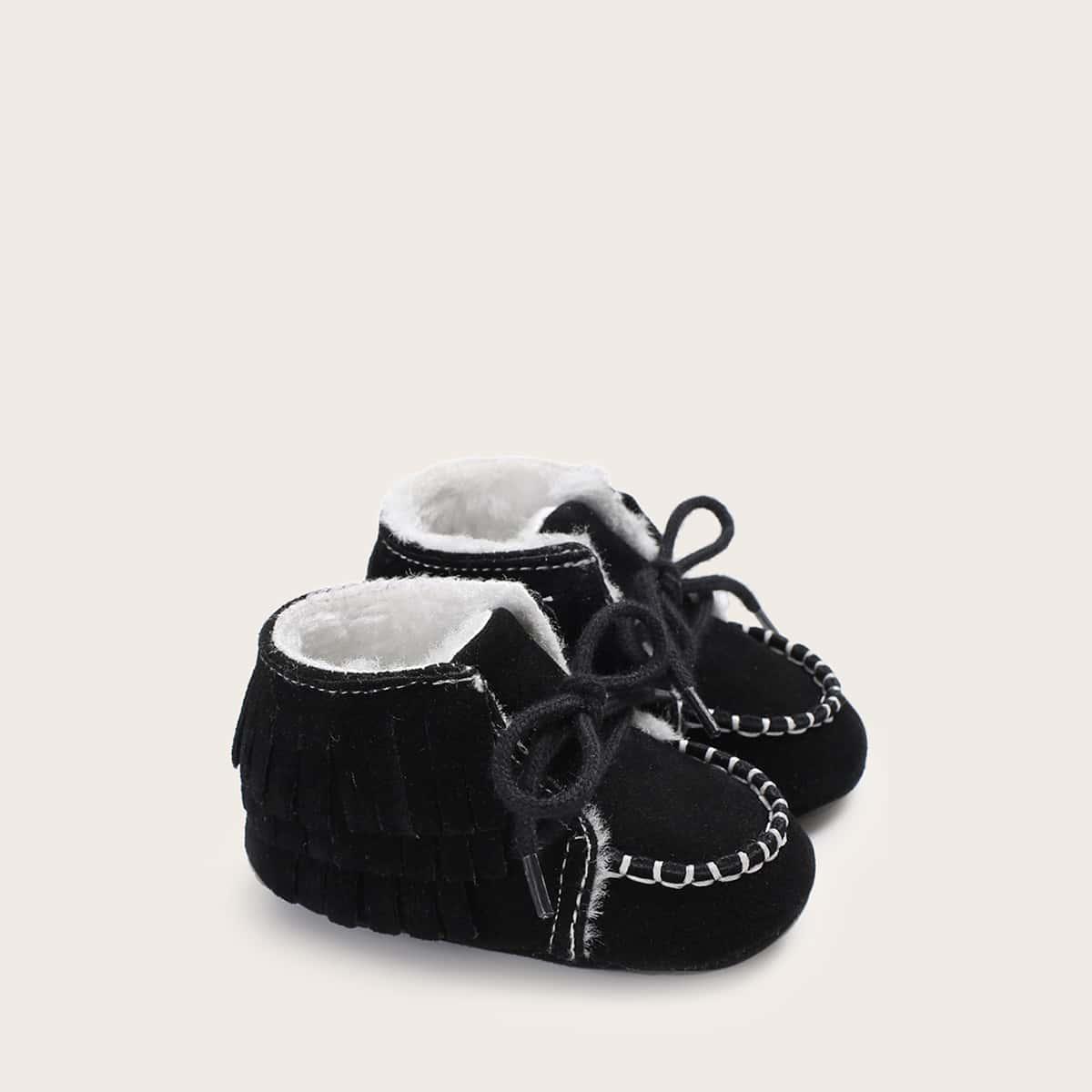 Zwart Comfortabel Baby laarsjes