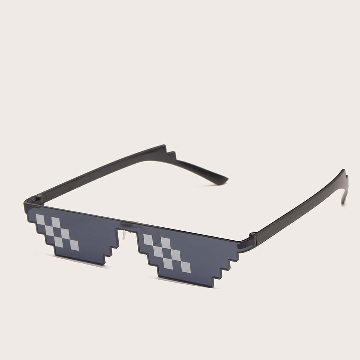 Men Mosaic Frame Sunglasses