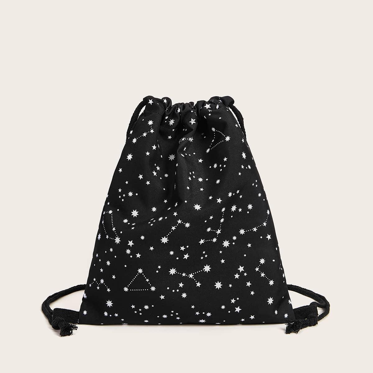 Рюкзак на кулиске с принтом звезды