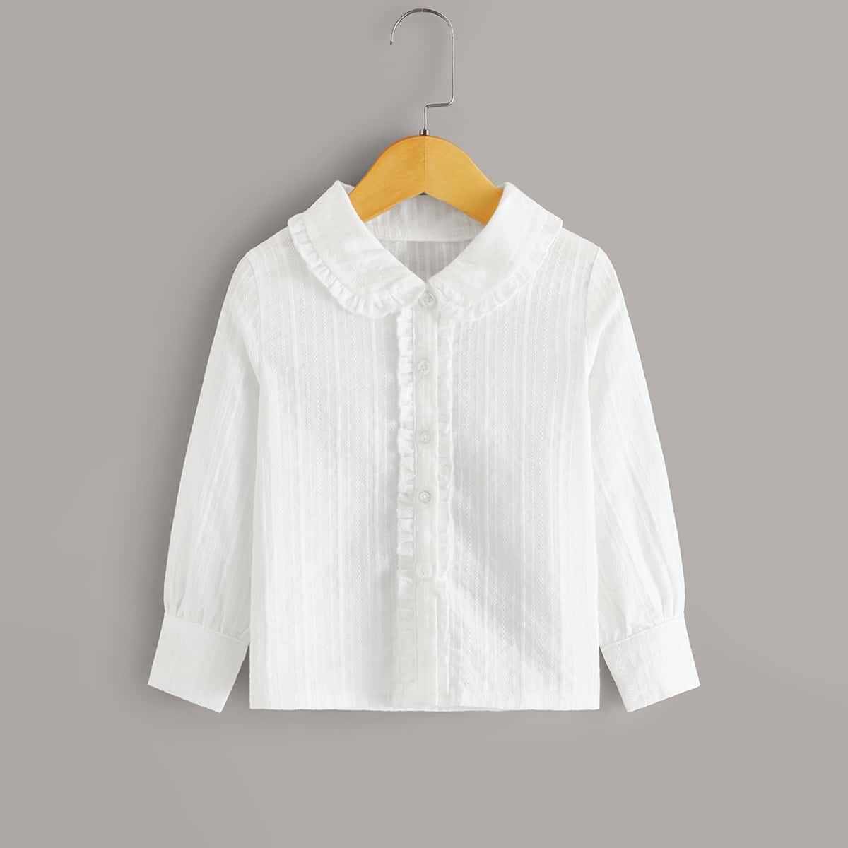 Блуза с оригинальным воротником для девочек от SHEIN