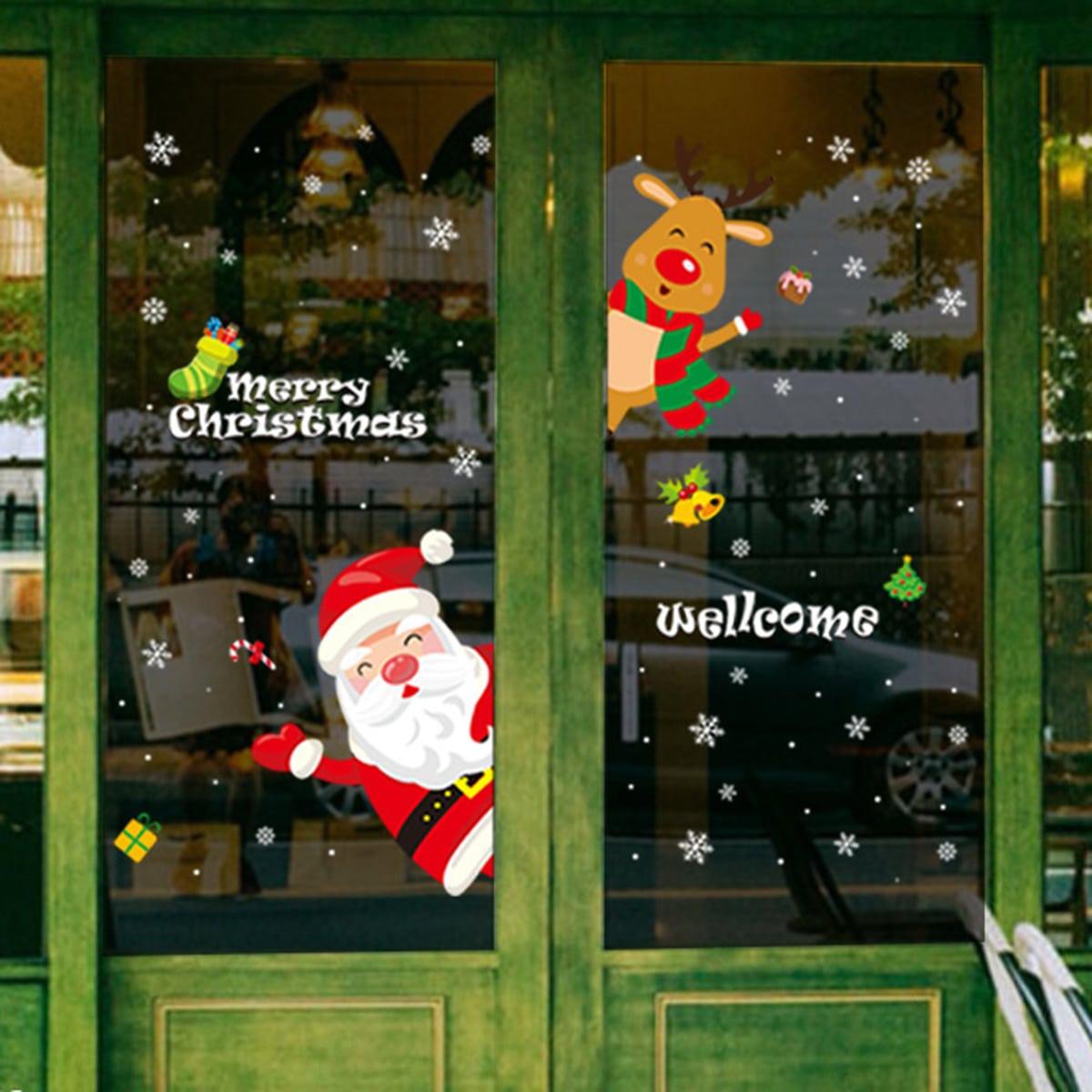 Muursticker kerstpatroon