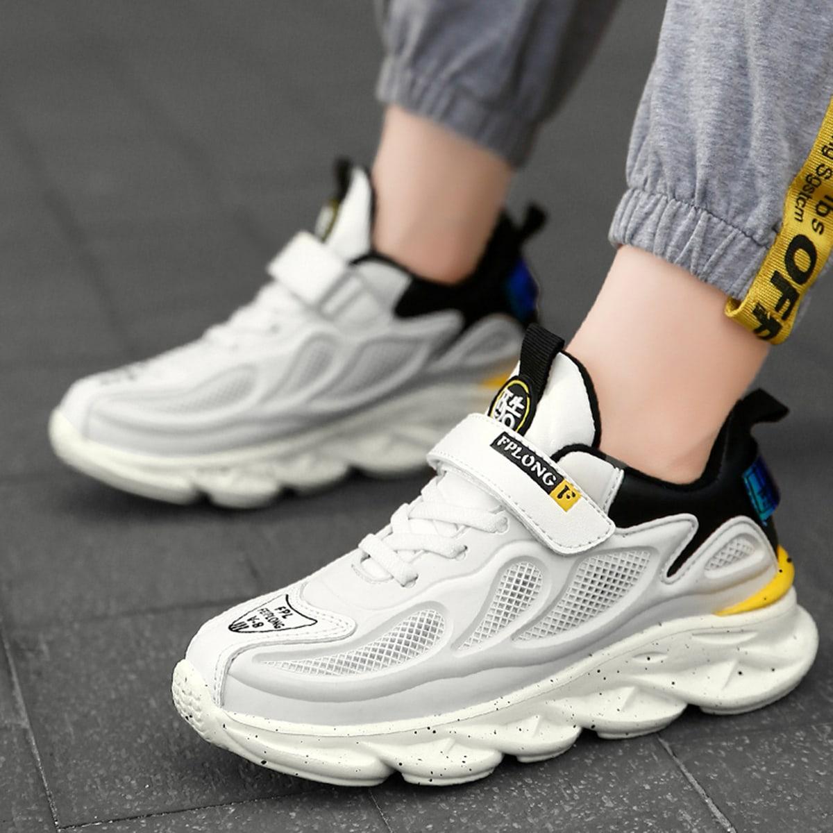 Dikke sneakers met klittenband voor meisjes