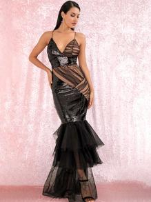Sequin   Dress   Prom   Mesh