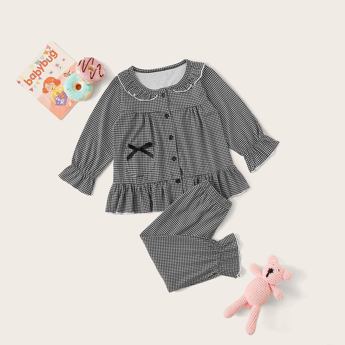 Пижама с оборками для девочек от SHEIN