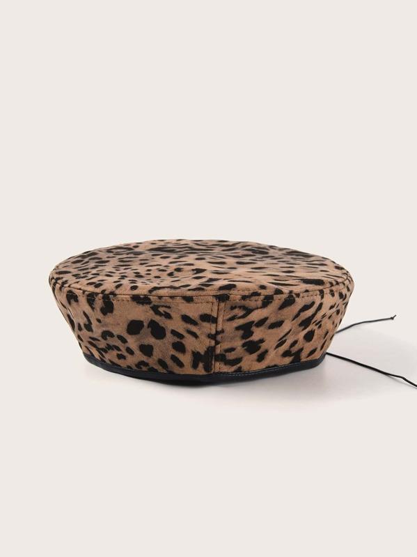 Leopard Pattern Beret, Multicolor