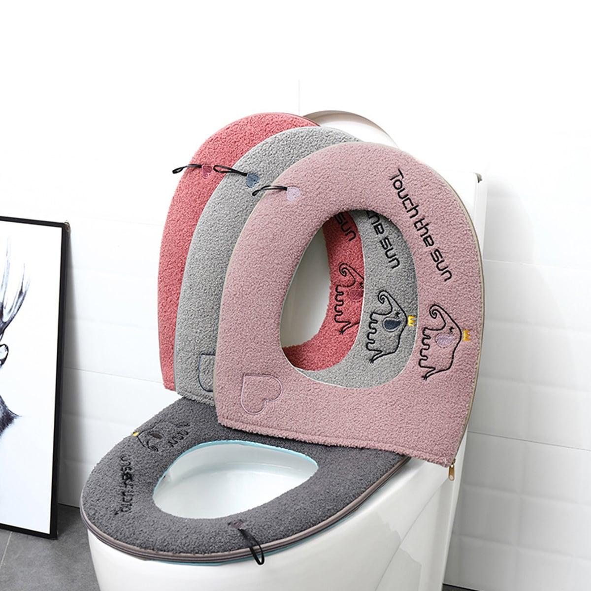 1pc schattige geborduurde warmer toiletbril
