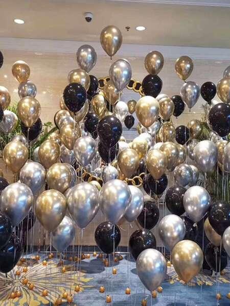 15pcs Solid Decorative Balloon Set