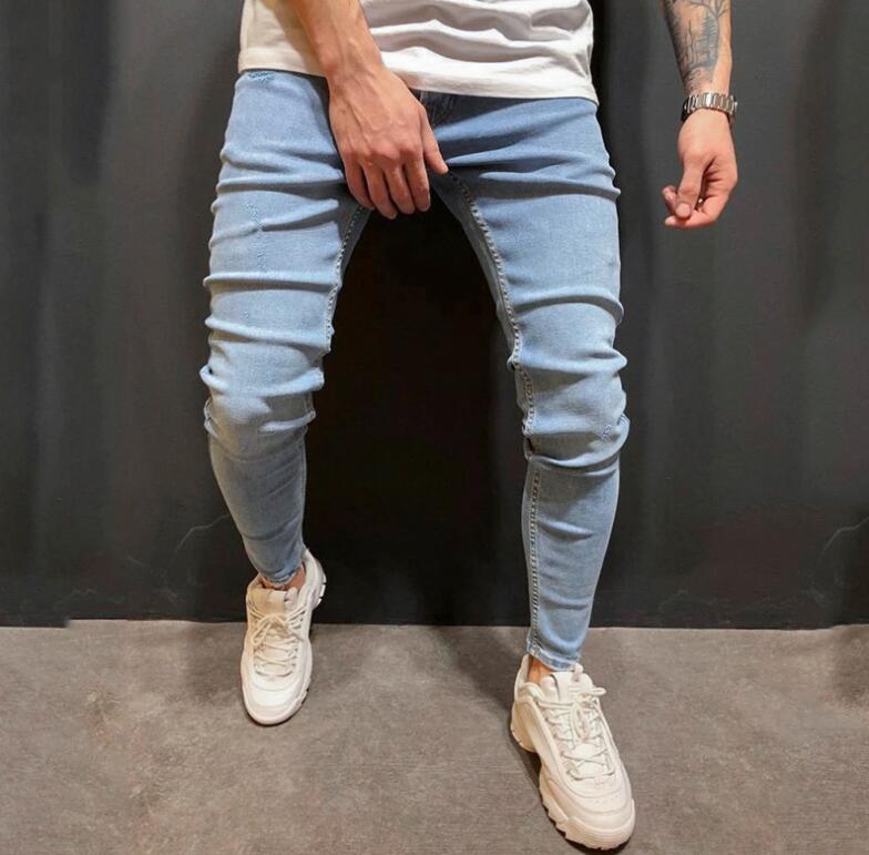 Blauw Casual Vlak Heren Jeans