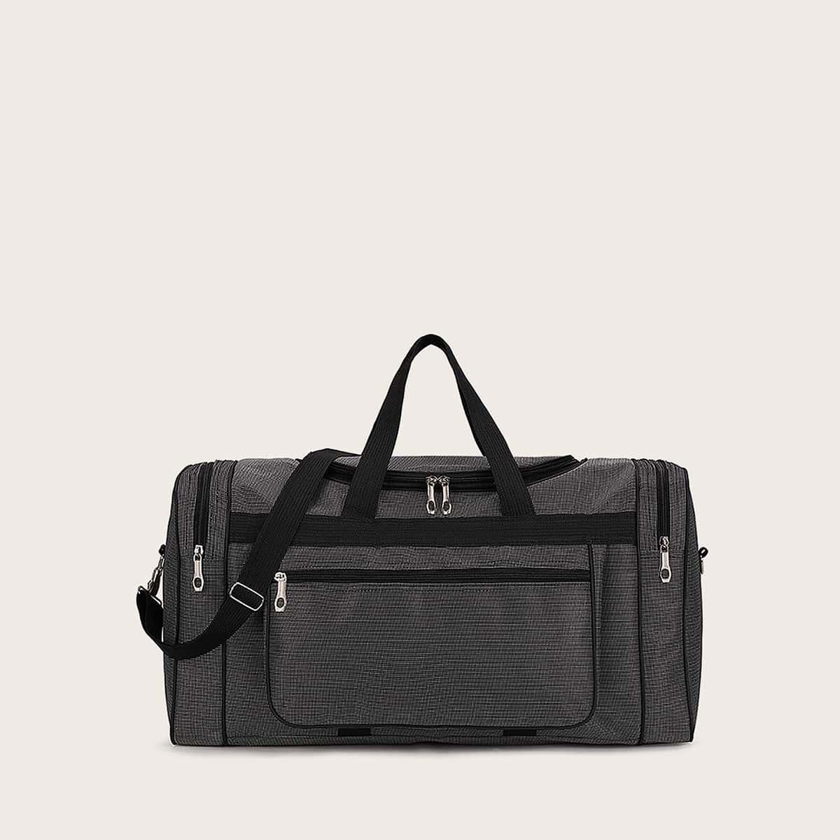 Мужская сумка-даффл на молнии