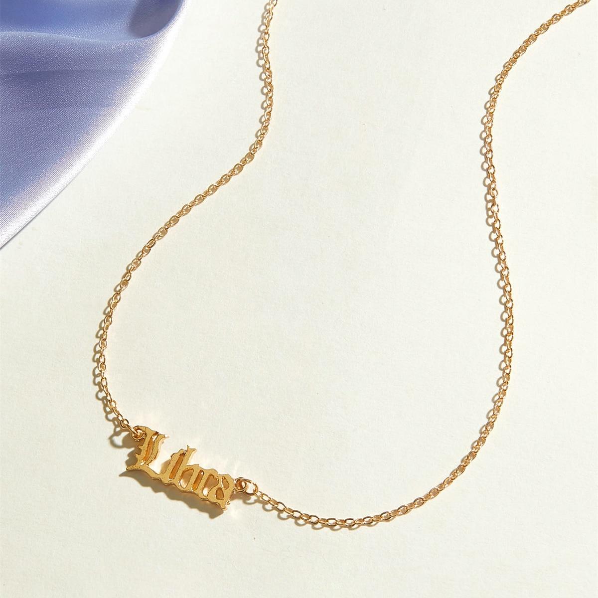 SHEIN / 1pc Waage Charm Halskette