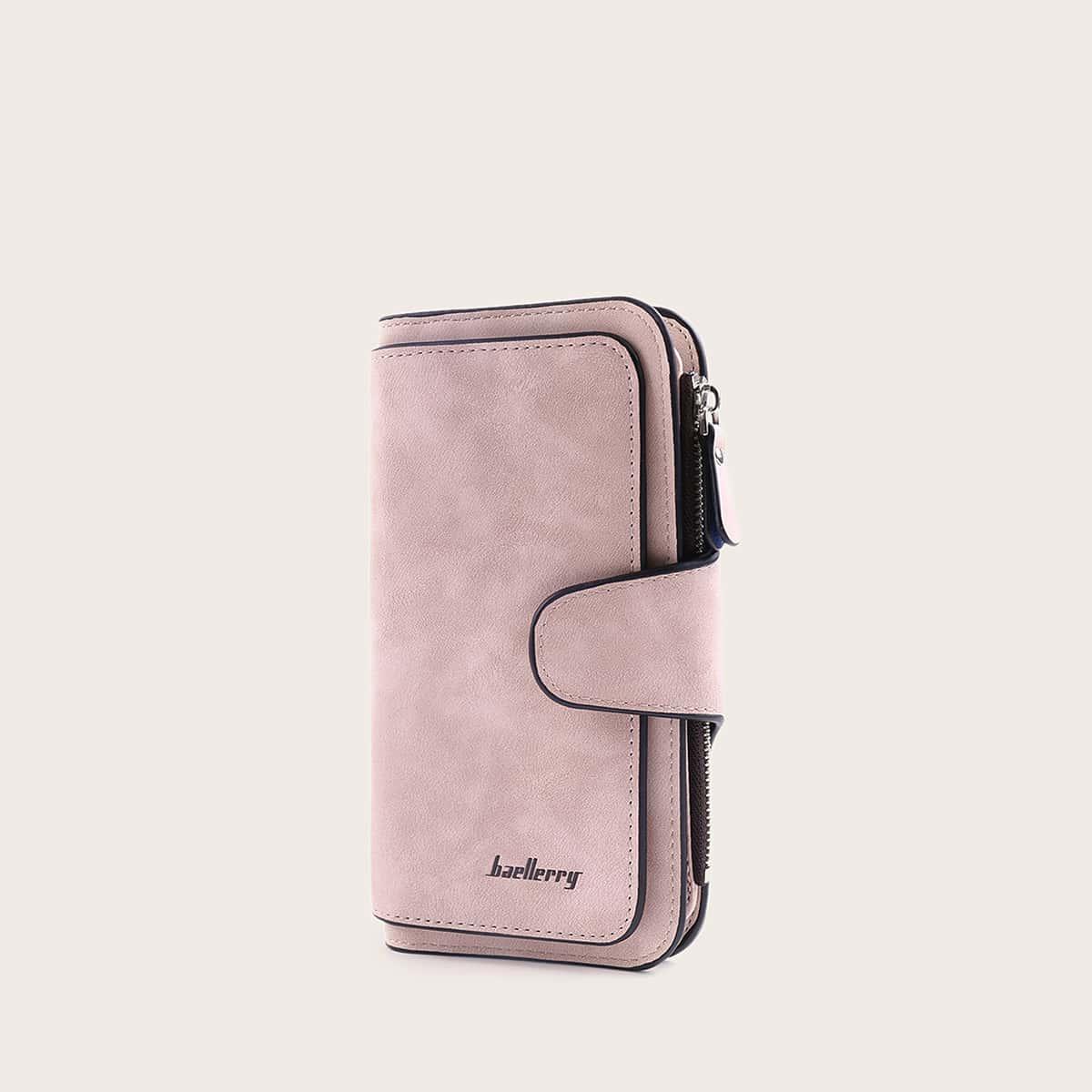 Складной кошелек с контрастной отделкой от SHEIN