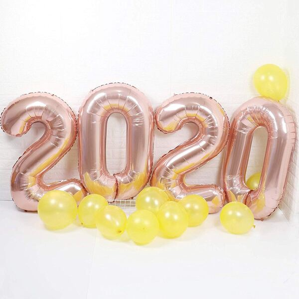 4pcs Number Shaped Balloon Set, Multicolor