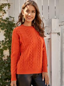 Sweater | Orange | Cable | Neon