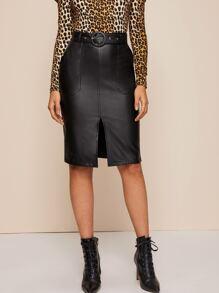 Leather | O-Ring | Front | Skirt | Belt