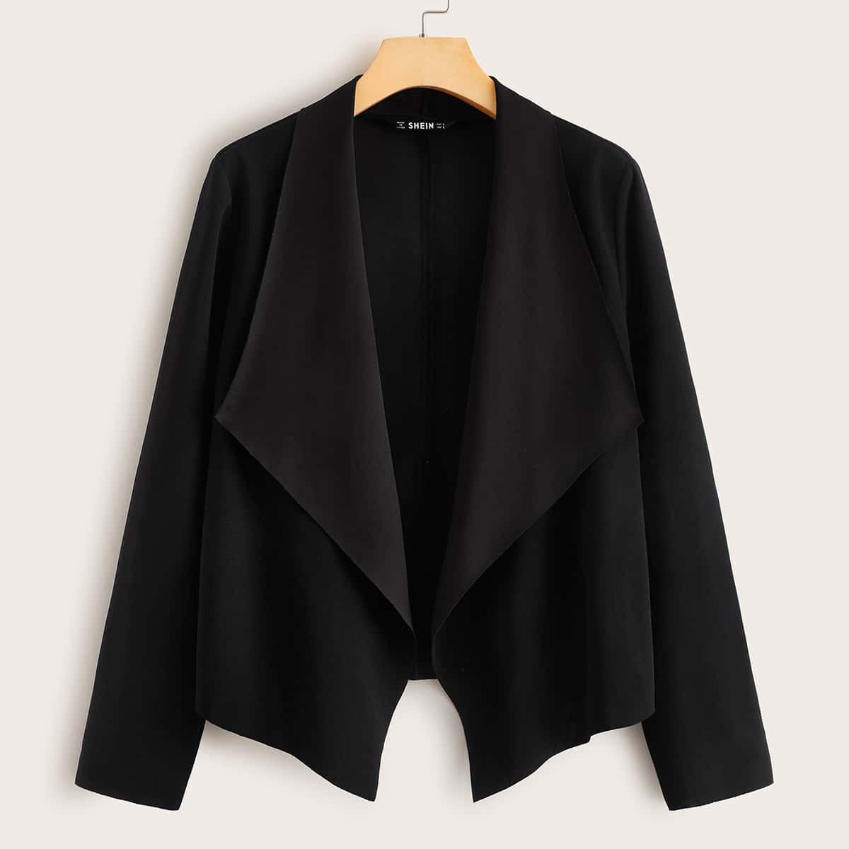 SHEIN / Asymmetrische Jacke mit Wasserfallkragen