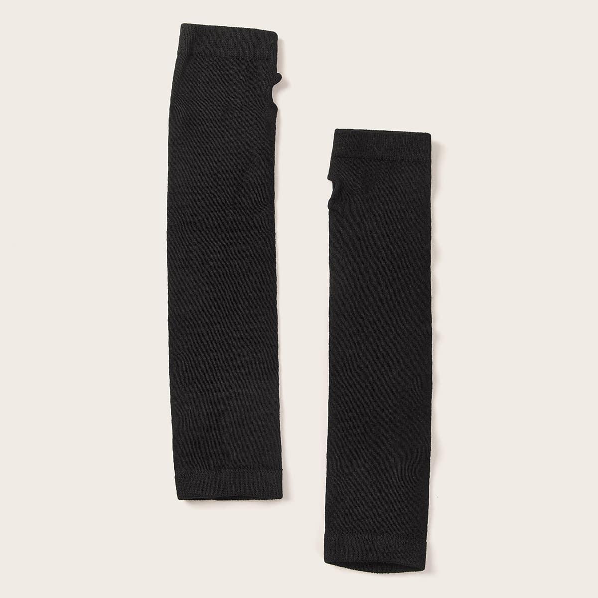 Длинные вязаные открытые перчатки 1 пара от SHEIN