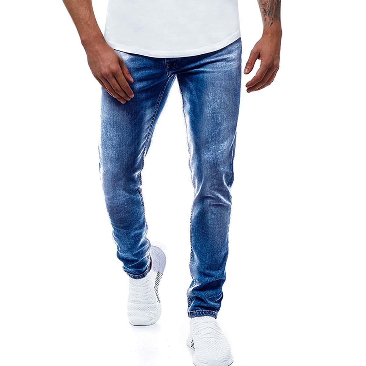 Blauw Casual Heren Jeans