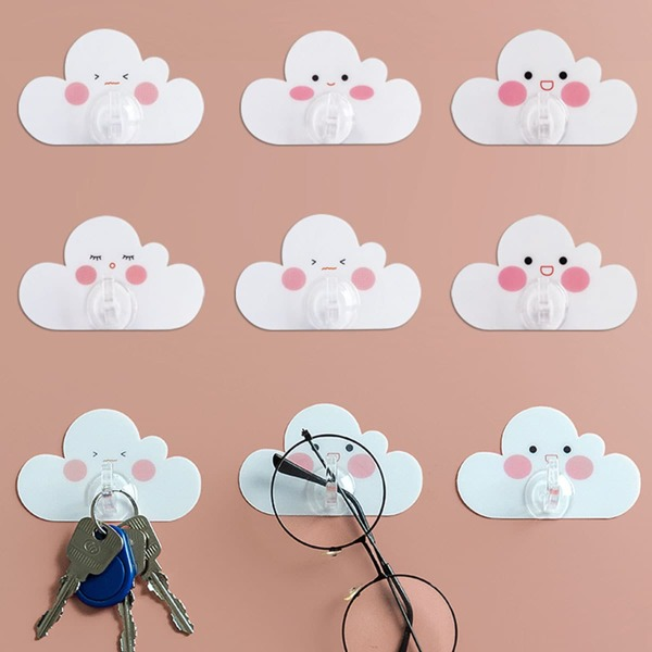 4pcs Cloud Shaped Wall Hook